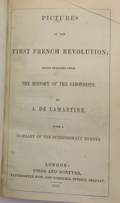 Image for Pictures of the First French Revolution Being Episodes from the History of the Girondists with a Summary of the Intermediate Events; and Zenobia, or The Fall of Palmyra