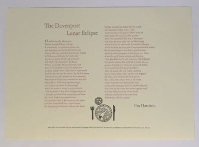 Image for The Davenport Lunar Eclipse [Broadside]