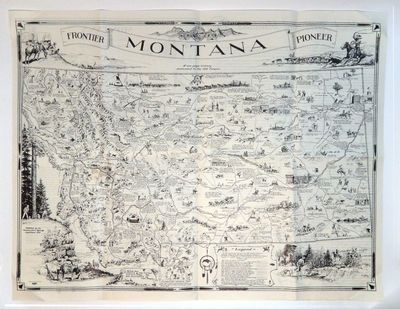 Image for Frontier Montana Pioneer map A One Page History Dedicated to the Old Timers