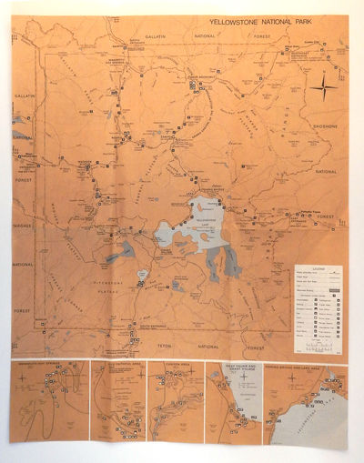 Image for Map of Yellowstone National Park / Grand Teton National Park and John D. Rockefeller Jr. Memorial Parkway