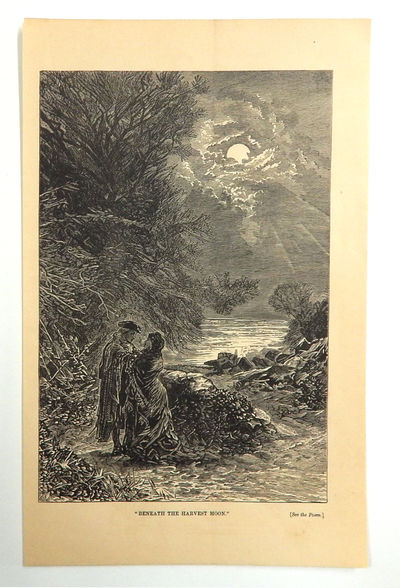 "Image for ""Beneath the Harvest Moon'"" Engraved Plate from Peterson's Magazine, collected edition"