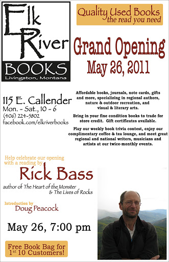 Image for Rick Bass, Grand Opening Poster, 28 May 2011