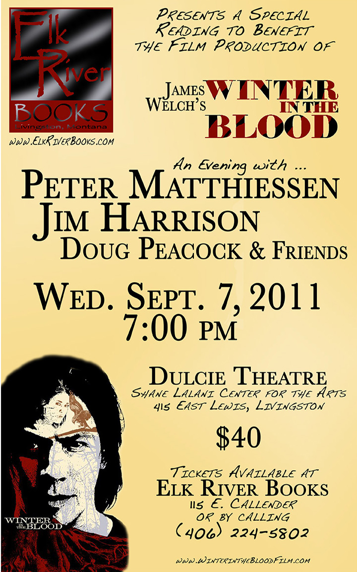 Image for Winter in the Blood Poster (Peter Matthiessen, Jim Harrison, Doug Peacock), 07 September 2011