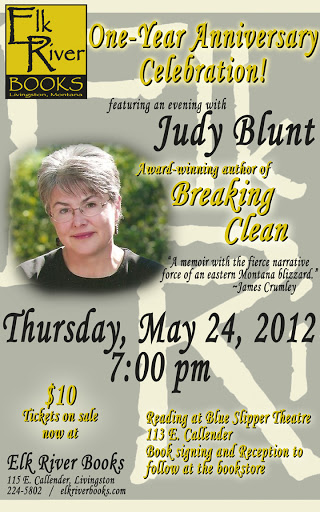 Image for Judy Blunt (Elk River Books 1st Anniversary) Poster, 24 May 2012