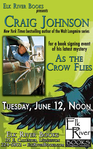"Image for Craig Johnson ""As the Crow Flies"" Poster, 12 June 2012"