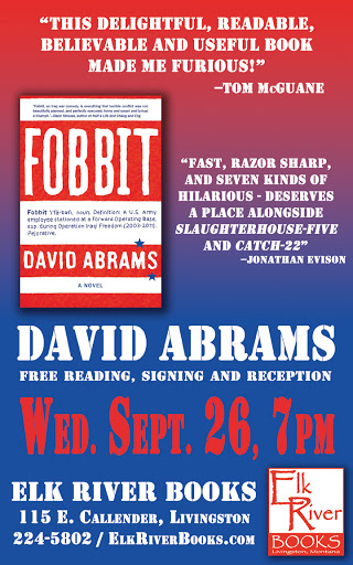 "Image for David Abrams ""Fobbit"" Poster, 26 September 2012"