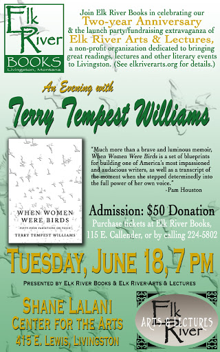 Image for Terry Tempest Williams (Elk River Books 2nd Anniversary) Poster, 18 June 2013