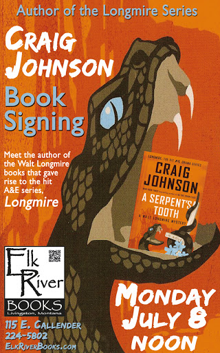 "Image for Craig Johnson ""Serpent's Tooth"" Poster, 08 July 2013"