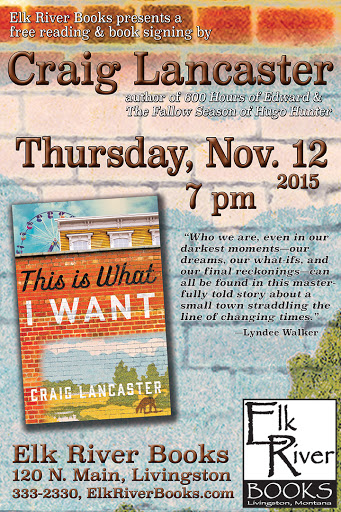 "Image for Craig Lancaster ""This is What I Want"" Poster, 12 November 2015"