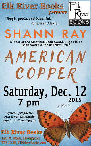 "Image for Shann Ray ""American Copper"" Poster, 12 December 2015"