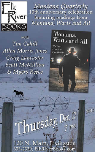 "Image for ""Montana Warts and All"" 10-year Anthology of Montana Quarterly Book Release Event Poster, 12 December 2015"