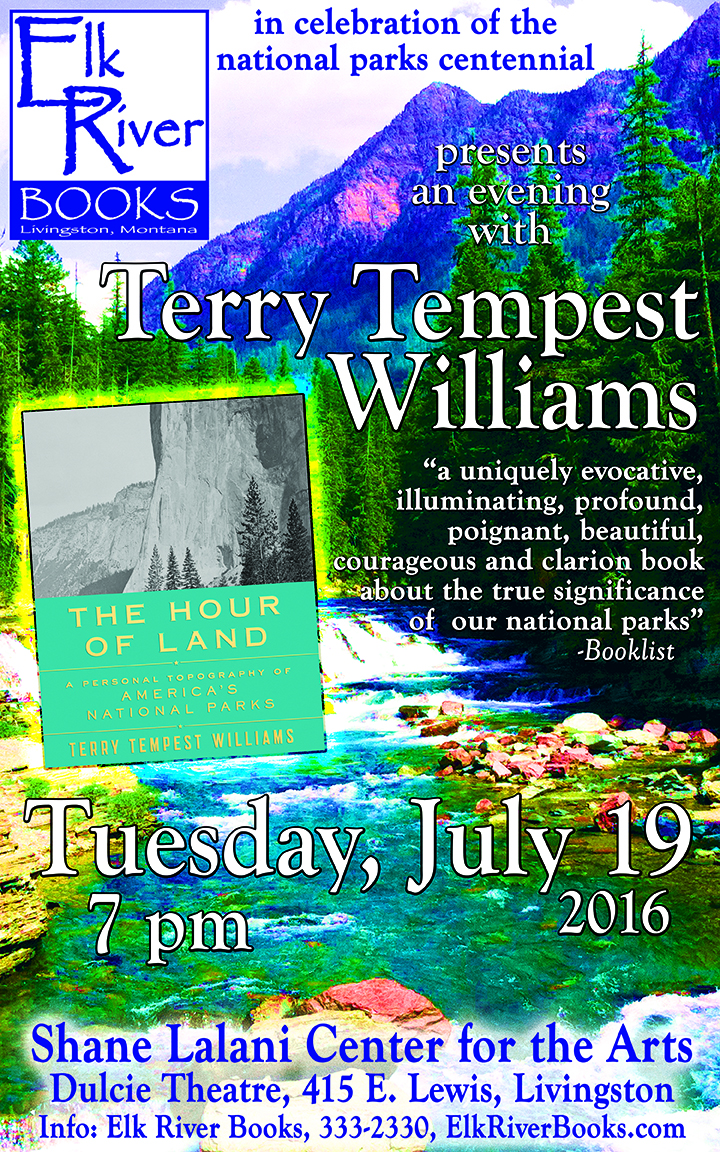 Image for Terry Tempest Williams Poster, 19 July 2016