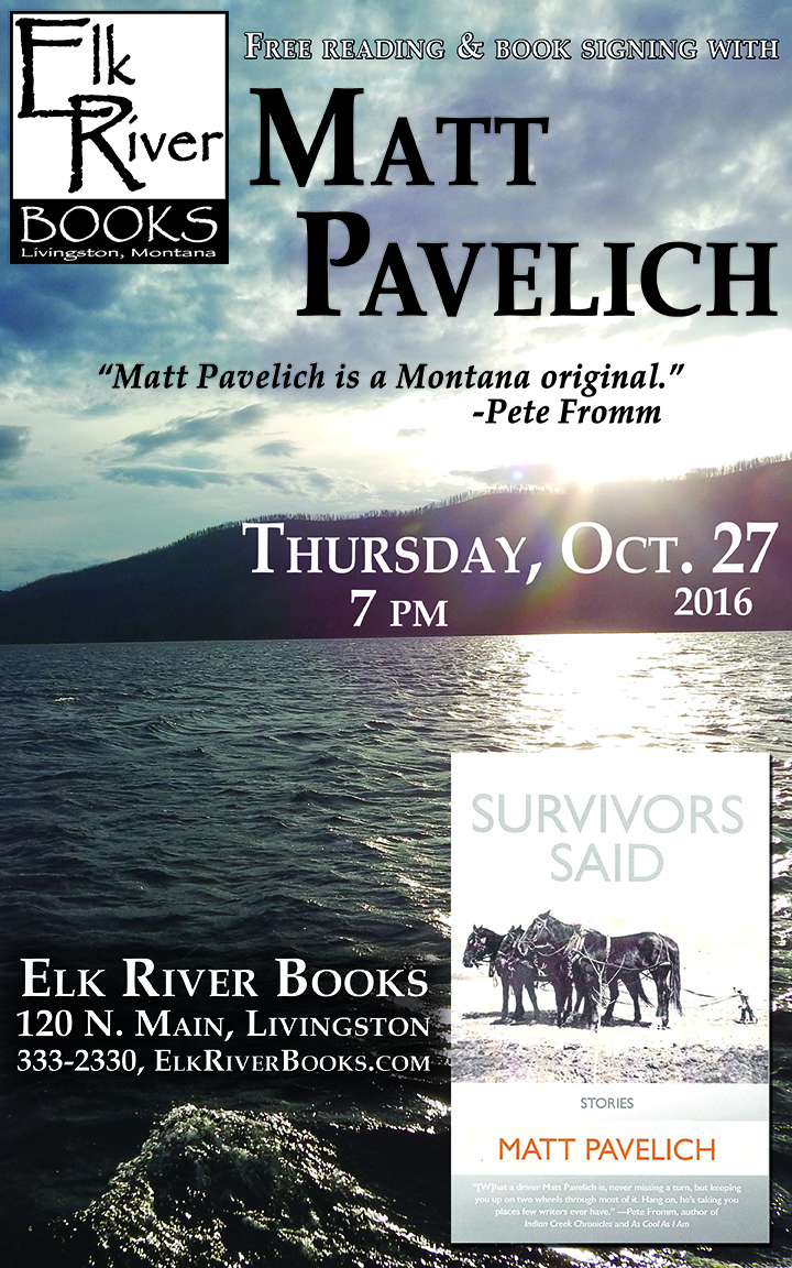 "Image for Matt Pavelich ""Survivors Said"" Poster, 27 October 2016"