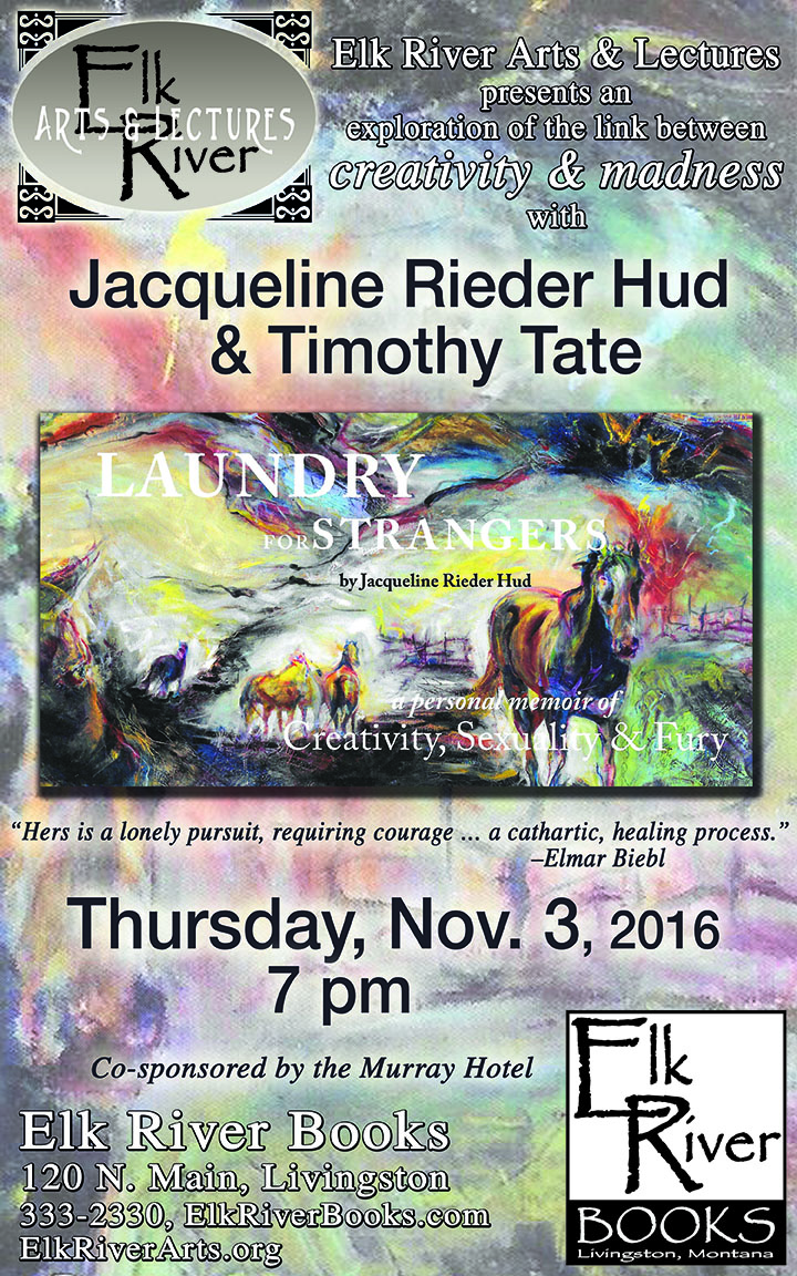 "Image for Jacqueline Rieder Hud and Timothy Tate ""Laundry for Strangers"" Poster, 03 November 2016"