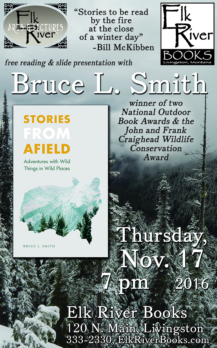 "Image for Bruce L. Smith ""Stories From Afield"" Poster, 17 November 2016"