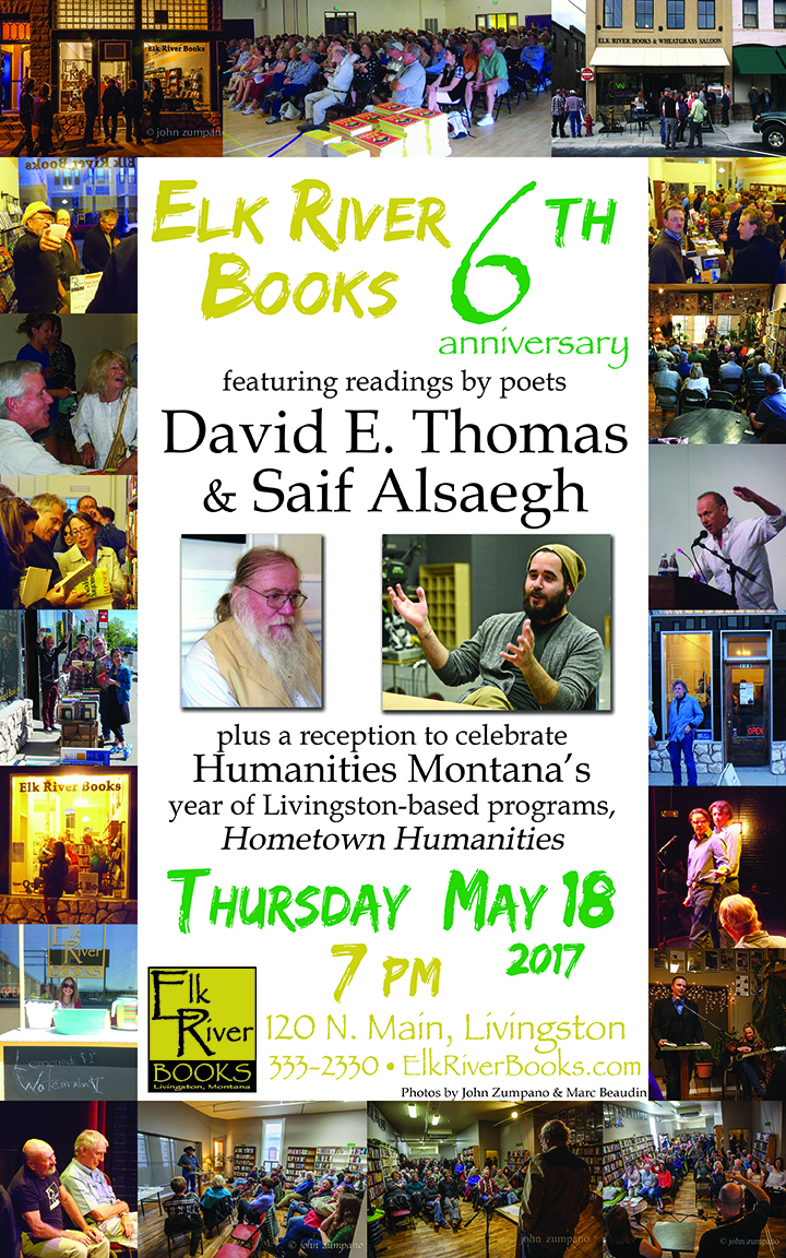 Image for Elk River Books 6th Anniversary Poster, 12 May 2017