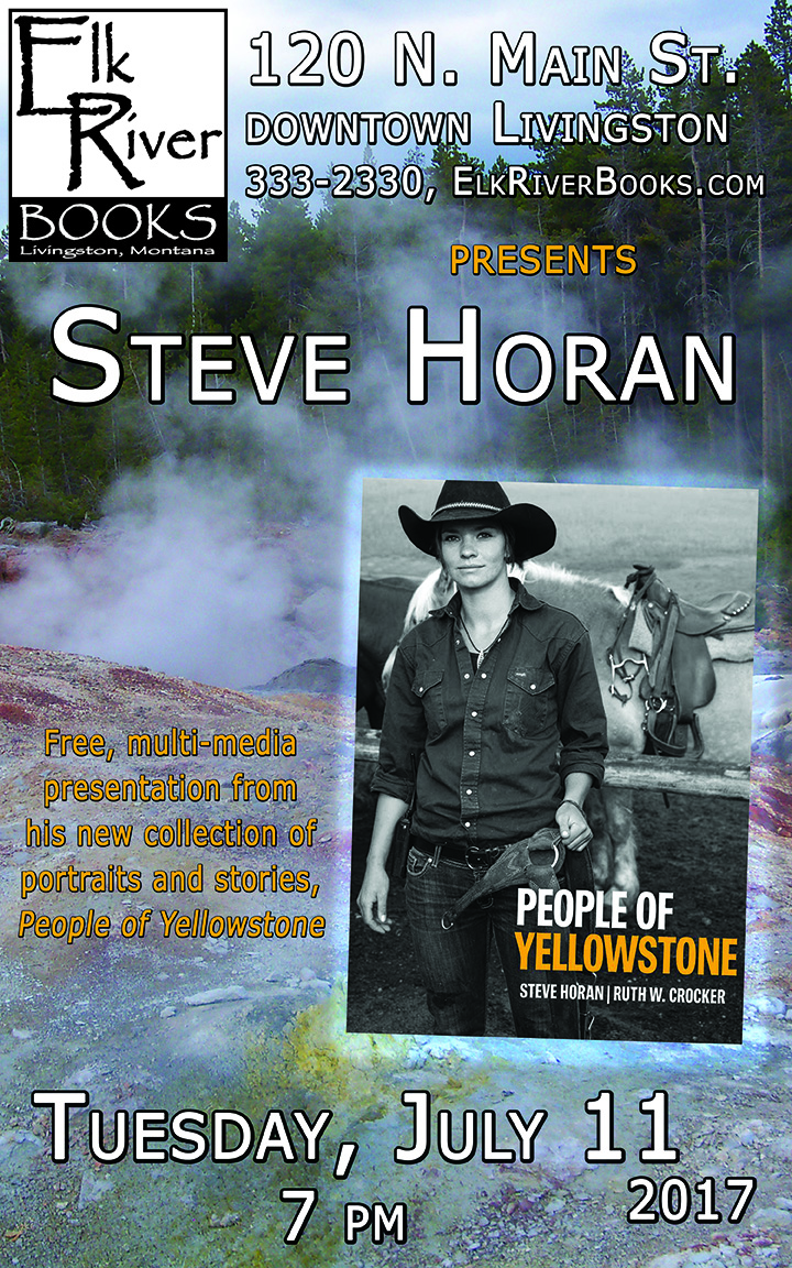 Image for Steve Horan reading event for People of Yellowstone Poster, 11 July 2017
