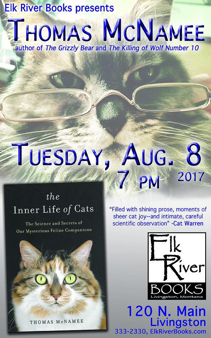 Image for Thomas McNamee reading event for The Inner Life of Cats Poster, 08 August 2017