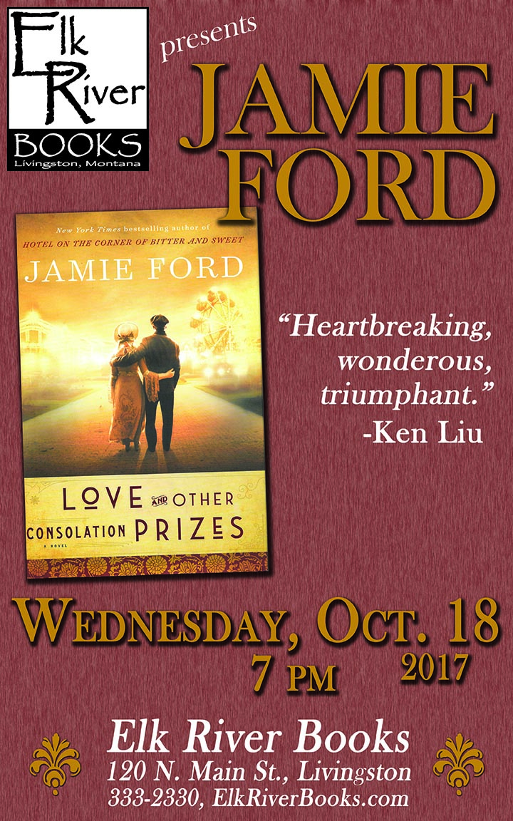 Image for Jamie Ford reading event for Love and Other Consolation Prizes poster, 18 October 2017