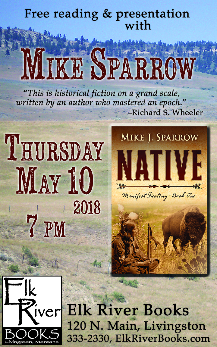Image for Mike Sparrow reading event for Native poster, 10 May 2018