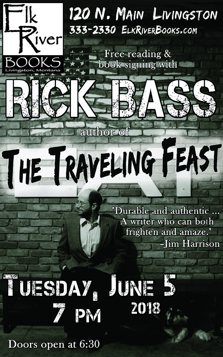 Image for Rick Bass reading event for The Traveling Feast poster, 5 June 2018