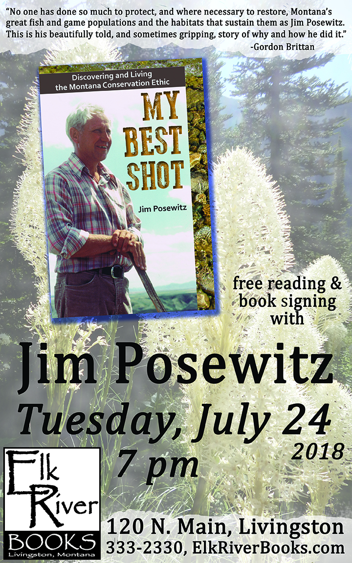 Image for Jim Posewitz reading event poster for My Best Shot, 24 July 2018