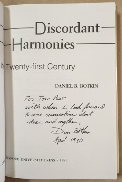 Image for Discordant Harmonies: A New Ecology for the Twenty-First Century