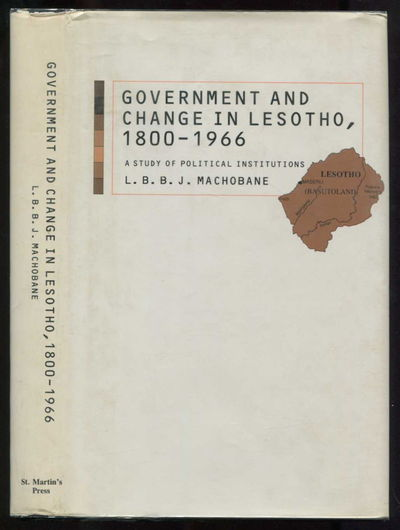 Image for Government and Change in Lesotho, 1800-1966: A Study of Political Institutions