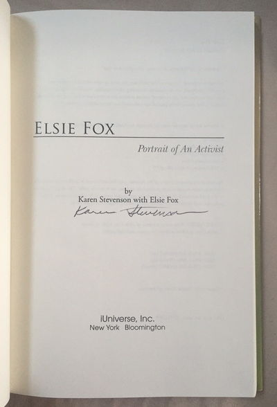 Image for Elsie Fox: Portrait of an Activist