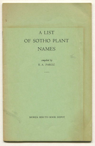 Image for A List of Sotho Plant Names