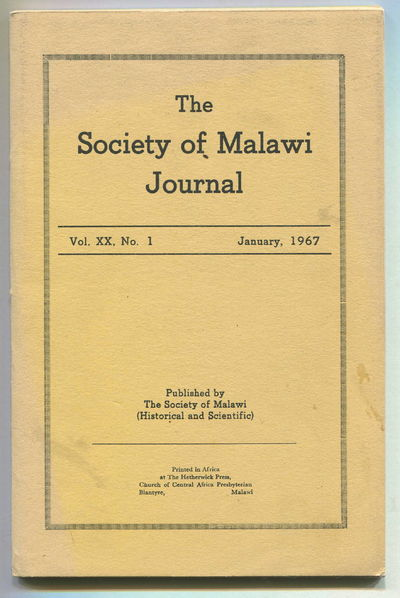 Image for The Society of Malawi Journal Vol XX, No. 1