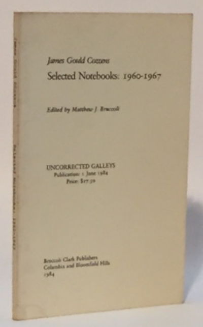 Image for James Gould Cozzens: Selected Notebooks 1960-1967